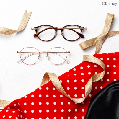 Lovely mature eyewear that ribbon of Minnie Mouse became point from Disney Collection comes up!